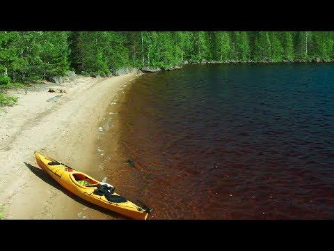 Kajak i Storsjön (på gränsen mellan Gästrikland/Dalarna)