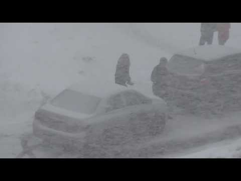 Снегопад накрыл Волгореченск..