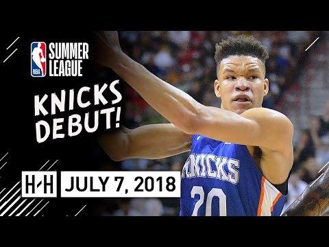 Kevin Knox Full Knicks Debut Highlights vs Hawks (2018.07.07) Summer League - 22 Pts, 8 Reb, CRAZY!