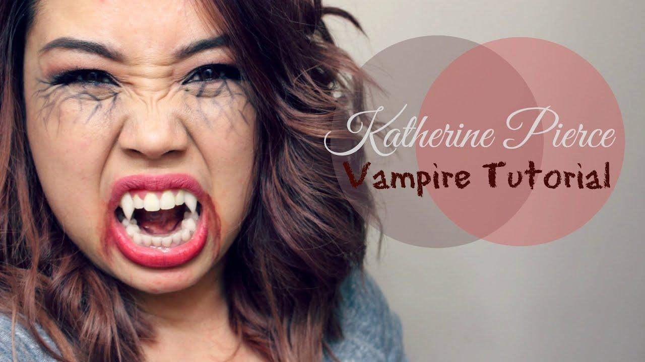 sc 1 st  YouTube & Vampire Diaries : Katherine Pierce Vampire Tutorial - YouTube