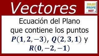 julioprofe explica cómo encontrar la ecuación del plano que contien...
