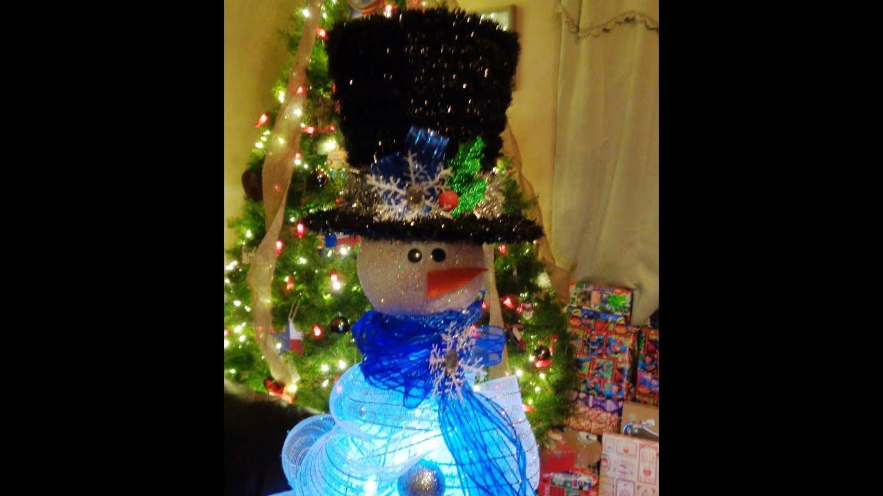 tomato cage deco mesh snowman - Tomato Cage Christmas Decorations