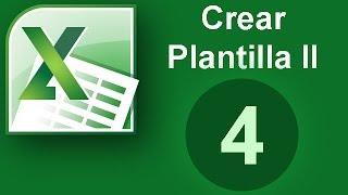 Tutorial Excel (Cap. 4) Crear plantilla II