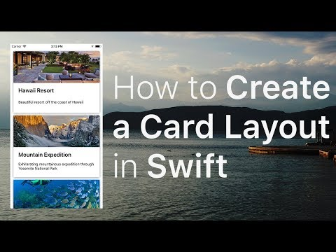 How to Create a Card Layout in Swift (UICollectionView)
