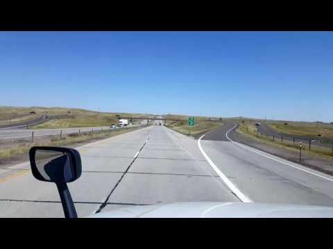Bigrigtravels Live! Cheyenne to Casper, Wyoming Interstate 25 August 27, 2016