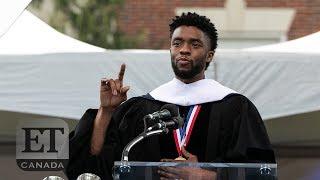 Chadwick Boseman Gives Inspiring Commencement Speech