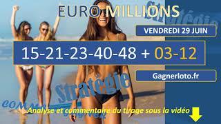 EUROMILLIONS- My Million- FDJ- VENDREDI 29 JUIN