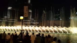 Thriller Water Fountain Show Dubai Mall