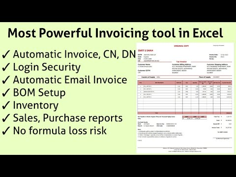 Download Now - Most Powerful GST Invoice format in Excel