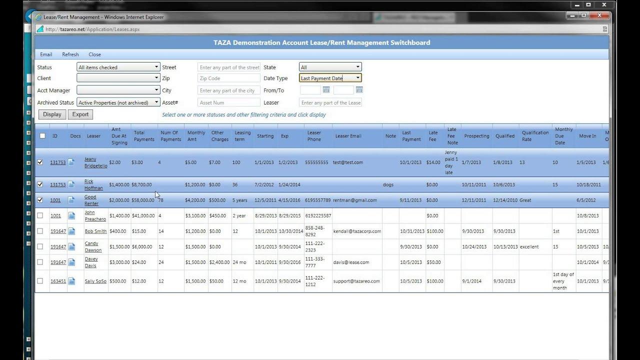 Rental Property Management Software Applicants Tenants
