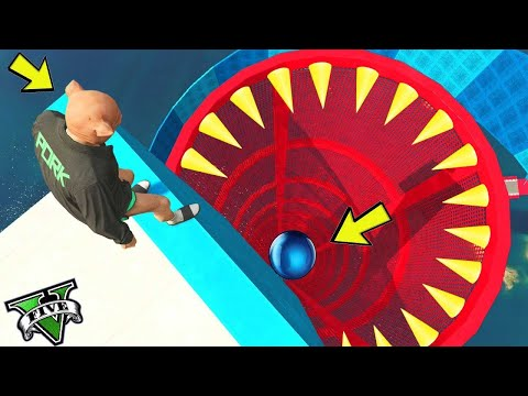 GTA 5 ONLINE 🐷 PARKOUR 100% PERICOLOSO !!! 🐷 GARE PARKOUR 🐷N*164🐷 GTA 5 ITA 🐷 DAJE !!!!!!