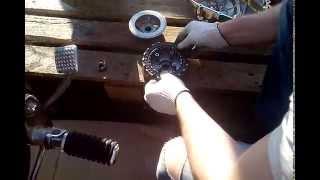 Honda steed замена сцепления(В данном видео показано процедура замены фрикционных дисков, и описание отличия сцепления 400-ки от 600ки., 2015-07-26T19:28:37.000Z)
