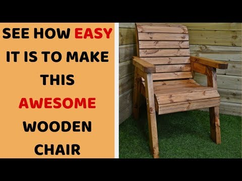 Wooden Easy Chair Making - DIY Woodworking At Home (Plans Included)