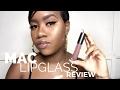 NEW MAC Lipglass Review on Dark Skin | Spite & Bittersweet Me | THE TASTEMAKER