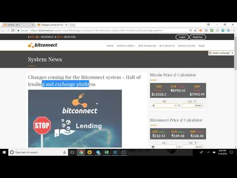 R.I.P/BitConnect Is Closed!!!1/16/18