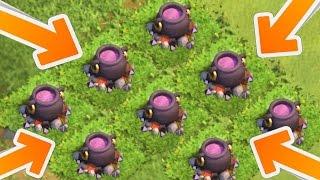 Clash of Clans - CAULDRON GLITCH! Crazy Bug Or Glitch? Haunted Cauldron 2015!