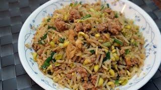 香港食譜 : 大豆芽菜炒肉鬆