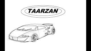 DRAW TARZAN: THE WONDER CAR IN MS PAINT EASILY,DC