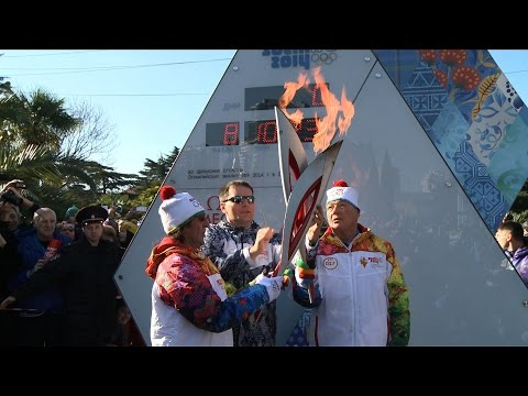 Olympics: Russian journalist relays torch in Sochi