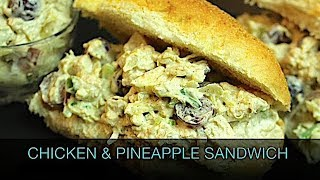 How to Make CHICKEN & PINEAPPLE SANDWICH ( Kids Special ) || Cookery School