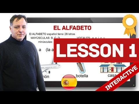 Spanish Course For Beginners - Lesson 1