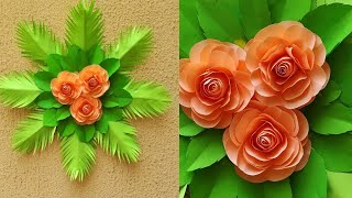DIY Paper Flower  Wall Hanging // Easy Wall Decoration Idea // DIY  Gift Idea // paper craft