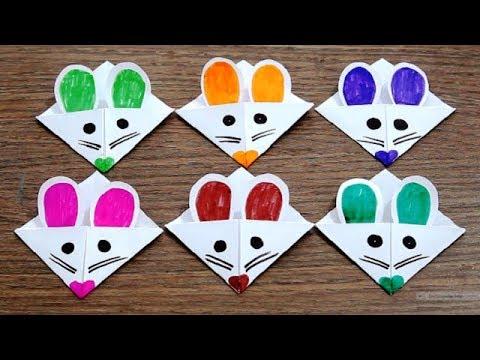 DIY - Mice Corner Bookmarks || Easy Paper Corner Bookmarks