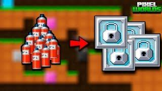 Как разбогатеть с помощью нового обновления - Pixel Worlds