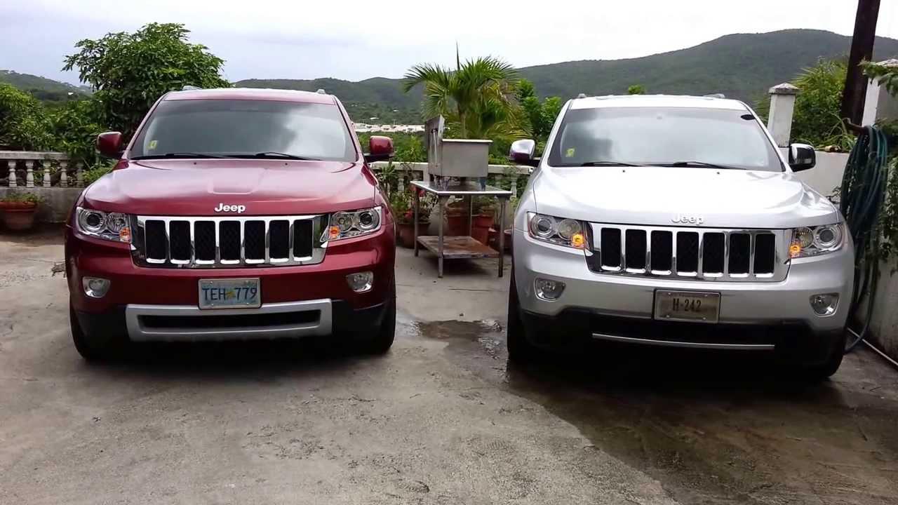 2011 2013 wk2 jeep grand cherokee halogen to oem bi xenon retrofit cancelling drl demo [ 1280 x 720 Pixel ]