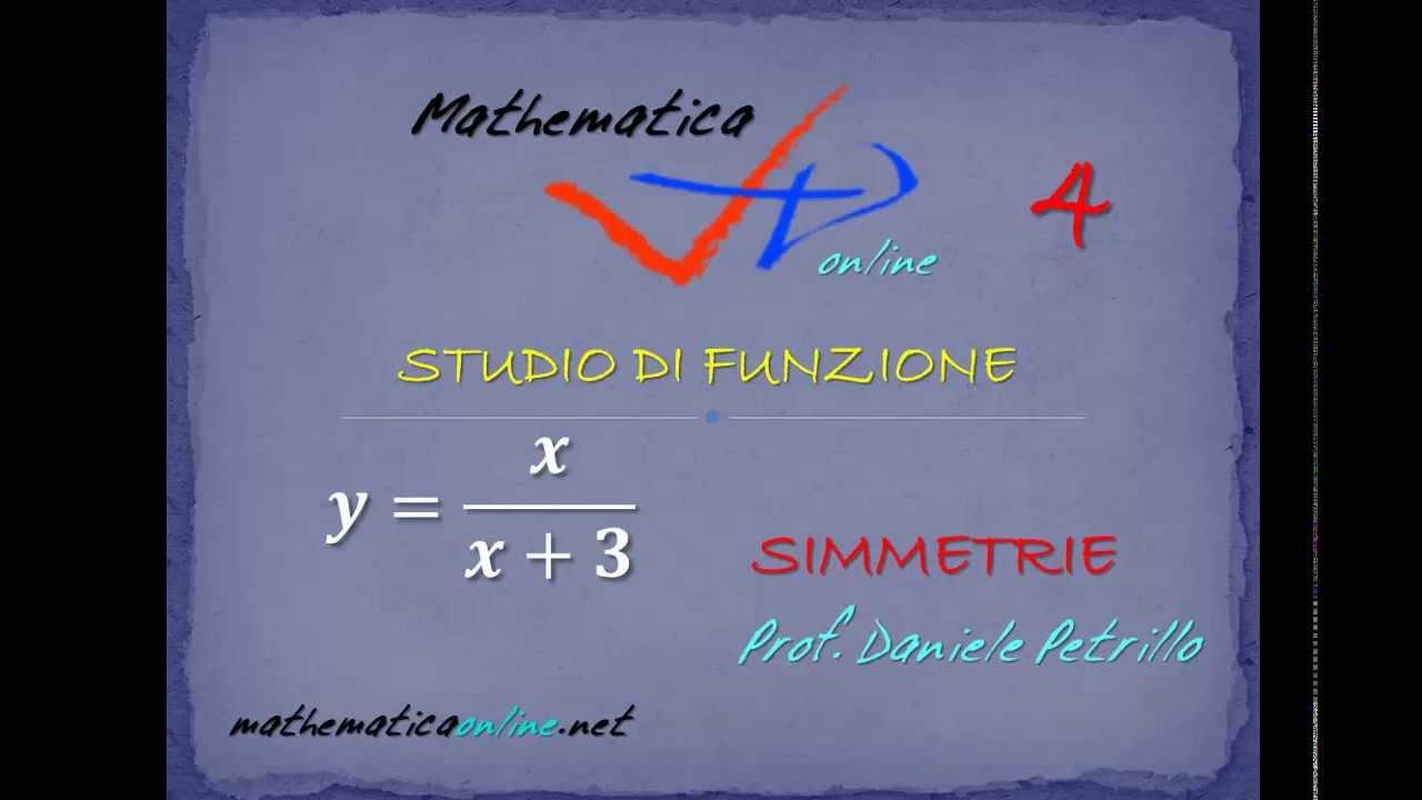 STUDIO DI FUNZIONE FRATTA - 01 - SIMMETRIE