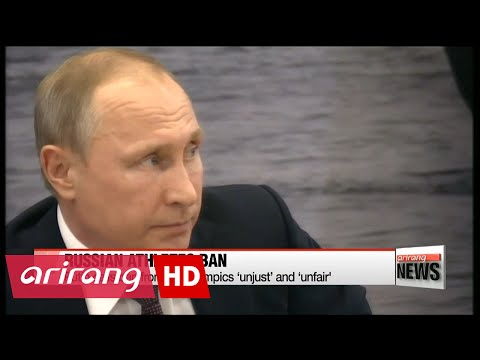 Putin calls ban of Russian athletes from Rio Olympics 'unjust' and 'unfair'