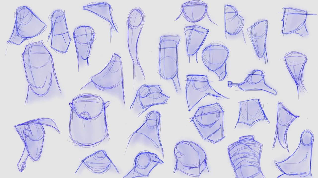 Character Design Basics- Head Shapes Exercise
