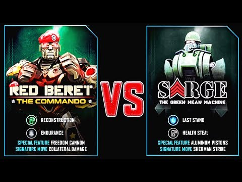 REAL STEEL WRB RED BERET VS SARGE DAY OF THE SCORPION (Живая сталь)