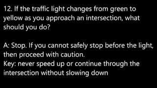 Few tips to pass your Ontario Driving Test G1 # traffic rules安省多倫多G1筆試模擬試題