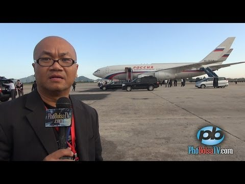 Phóng sự đón Tổng thống Nga Putin ở phi trường quốc tế Nội Bài, Hà Nội