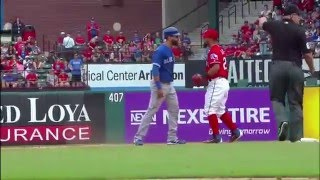 Rougned Odor PUNCHES Jose Bautista In The FACE ! - Toronto Blue Jays Vs Texas Rangers Brawl / Fight