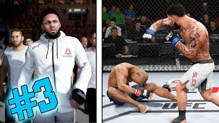 1ST TKO KNOCKOUT! HE GOT LUCKY! BELL SAVED HIM! EA Sports UFC 3 Career Mode Gameplay EP 3