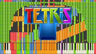 Repeat youtube video [Black MIDI] Synthesia – Tetris Theme A [Final] Impossible Remix 90,000 notes ~ Kanade Tachibana