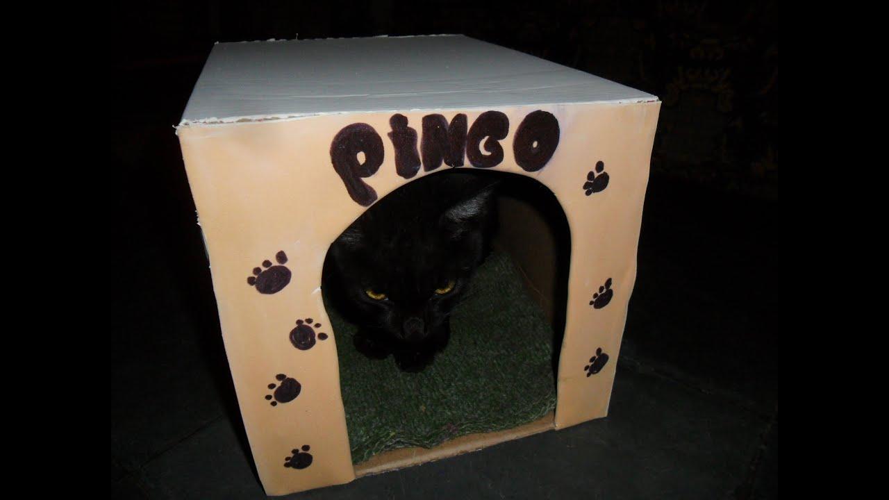 Top Como fazer uma Casinha reciclavel para seu gatinho - YouTube JI33