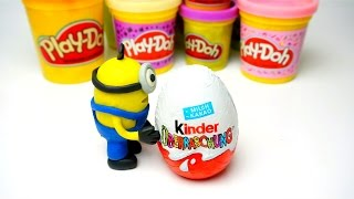 play doh kinder surprise stop motion toy video