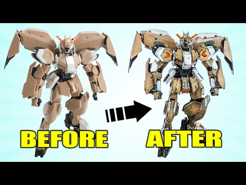 How to Gunpla Painting Tutorial Marker Pens Hand Paint and Bare Plastic by Lincoln Wright