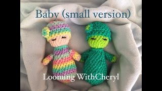 Rainbow Loom Baby Doll (small version) Loomigurumi - Looming WithCheryl