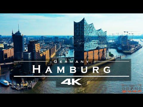 Hamburg, Germany 🇩🇪 - by drone [4K]