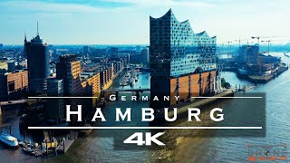 Hamburg, Germany 🇩🇪 - by drone [4K]