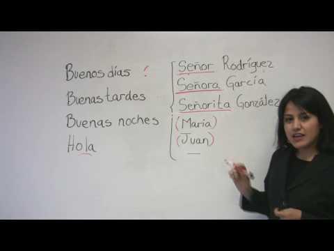 Học tiếng Tây Ban Nha cùng cô Ana: Chào hỏi (bài 1)