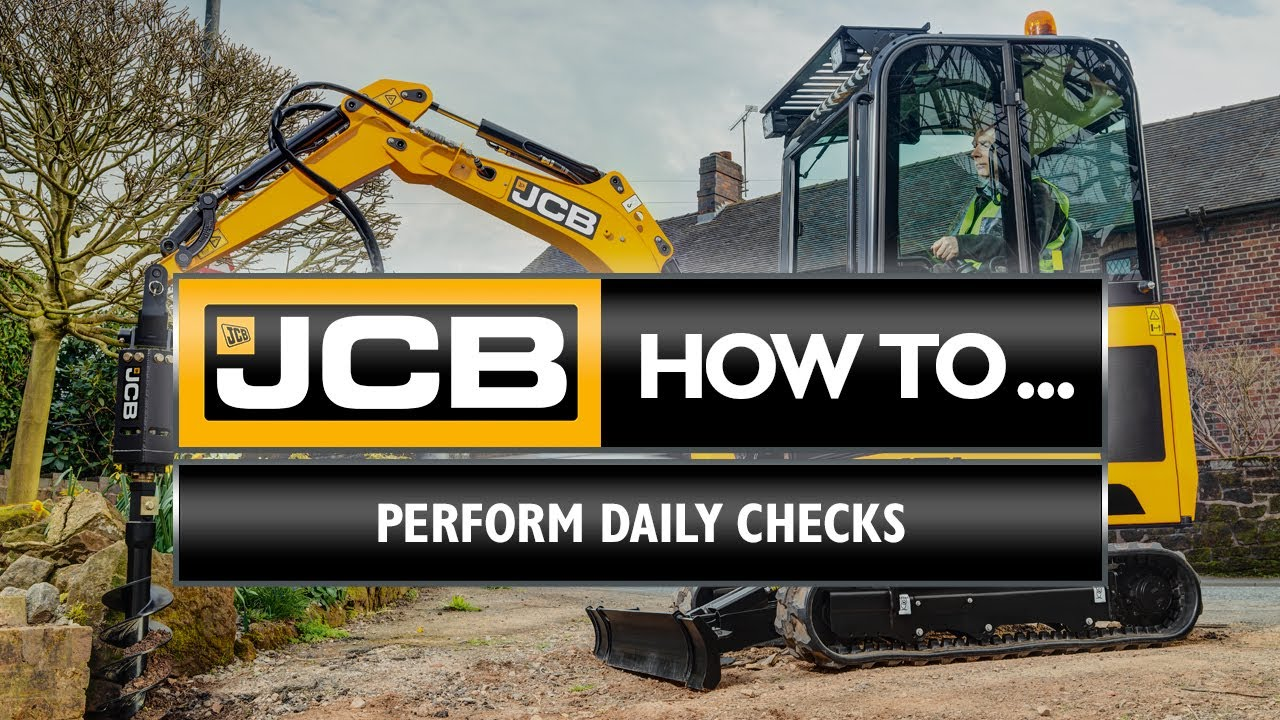 How to complete daily checks on a JCB 1-2 tonne mini excavator