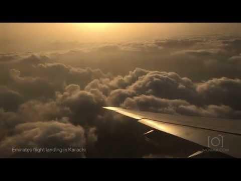 Emirates Landing at Karachi Airport