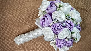 How To Make Fabric Bridal Bouquet With Jewellery From Scratch