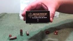 45ACP Magtech 165gr +P SCHP ballistic gel test