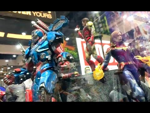 SDCC 2019 Hot Toys Marvel Studios 1:6 Scale Collectible Figure Booth
